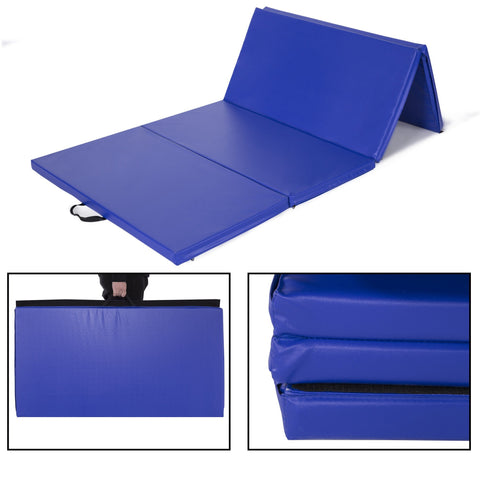 4 FT  x 8 FT  x 2 inches  Gymnastics Gym Mat Folding Exercise Tumbling Yoga Panel Fitness Mat - cloudmountainproducts