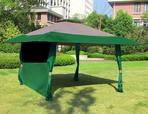 1 PC Wall Side Gazebo Canopy Wind and Sun Shade Privacy - cloudmountainproducts