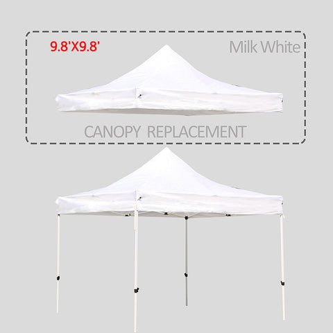 9.8 X 9.8 Ft Pop Up Gazebo Replacement Canopy Cover with UV Resistant Waterproof - cloudmountainproducts