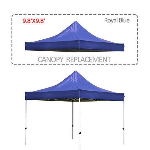9.8 X 9.8 Ft Pop Up Gazebo Replacement Canopy Cover with UV Resistant Waterproof
