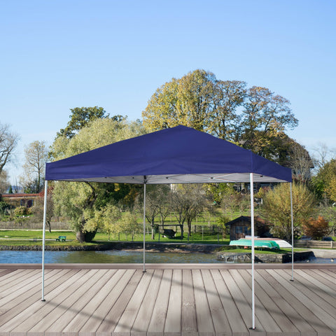 Pop Up Canopy Tent 10 x 10 ft UV Coated Outdoor Party Gazebo with Carry Bag