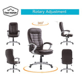 Office Chair High Back PU leather Computer Ergonomic Desk Swivel Executive Seat - cloudmountainproducts
