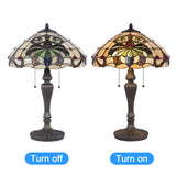 Tiffany Style Swirling Shells Table Lamp Baroque Jeweled Desk Lamp Home Decor