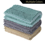 Non-Slip Bathroom Rugs Chenille Microfiber Floor Mat Fast Water Absorbent - cloudmountainproducts