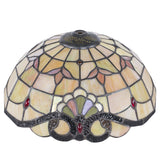 Tiffany Style Table Desk Lamp Victorian Double Lit Stained Glass Base Home Decor Lighting