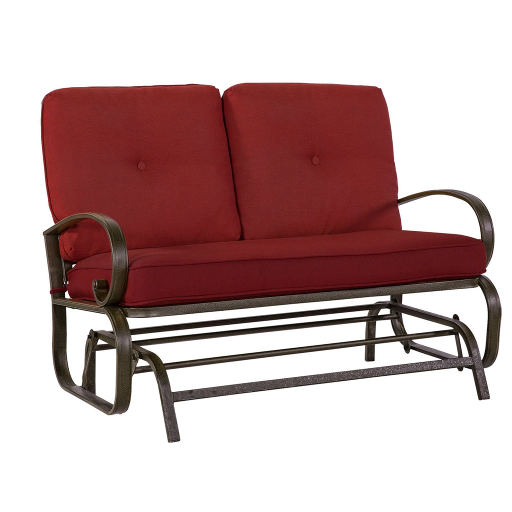 Outdoor Pourch Glider Rocking Chair Garden Patio Loveseat Furniture ...