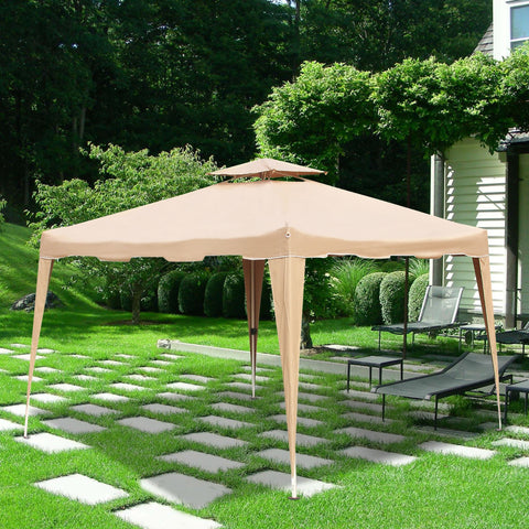 10 FT  x 10 FT  Waterproof Outdoor Garden Party Gazebo Tent Easy Pop Up Canopy Tent - cloudmountainproducts