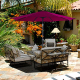 9 inches  Patio Canopy Outdoor Home Garden Beach Market Umbrella Push Button Tilt Crank - cloudmountainproducts