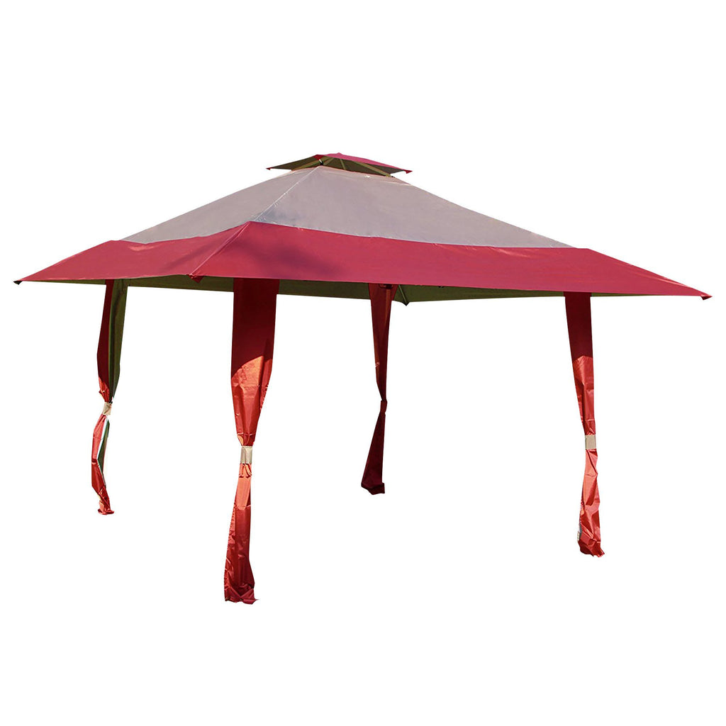 13 FT  x 13 FT  Easy Pop Up Canopy Outdoor Yard Patio Double Roof Gazebo Canopy Tent - cloudmountainproducts