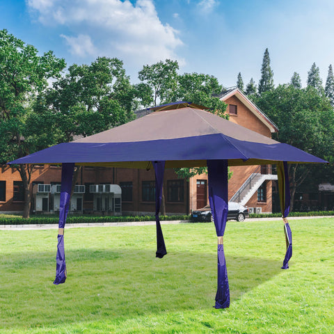 13'  x 13'  Easy Pop Up Canopy Outdoor Yard Patio Double Roof Gazebo Canopy Tent
