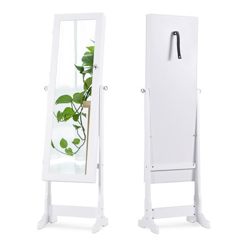 MIRRORED JEWELRY ARMOIRE – LOCKABLE STANDING LED CABINET ORGANIZER by LAPORTA PEARSE HOME