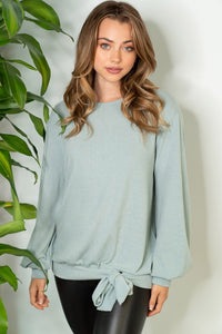 Minty Tie Sweater Top