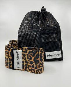 Healre booty bands in tan leopard print