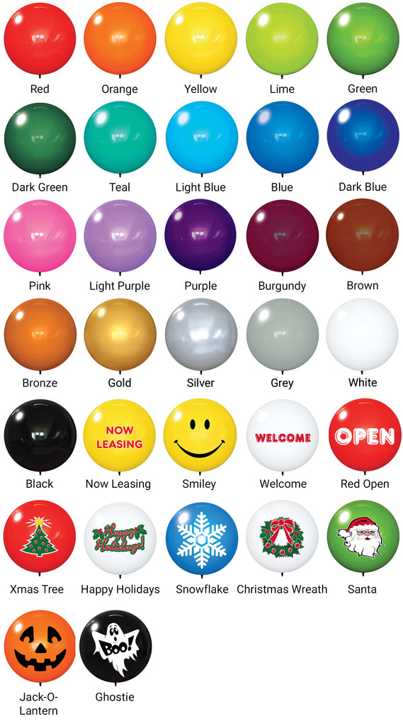 Premium Balloon Colors