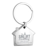 Laser Engraved House Beveled Metal Keychain 2 - Apartment Promotion