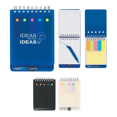 Spiral Notebooks w/Sticky Notes and Pen - Apartment Promotion