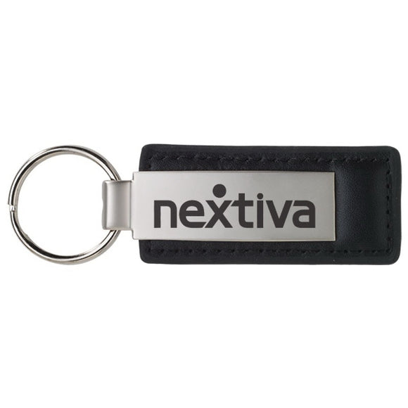 Leather & Metal Keychain Laser Engraved - Apartment Promotion