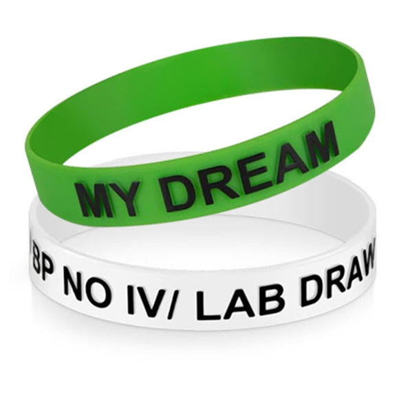 Silicone Wristbands - Embossed with Imprint - Apartment Promotion