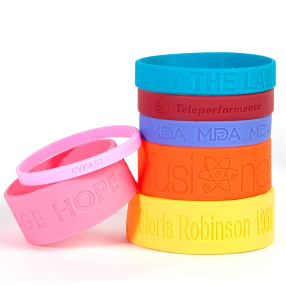 Silicone Wristbands - Debossed - Apartment Promotion