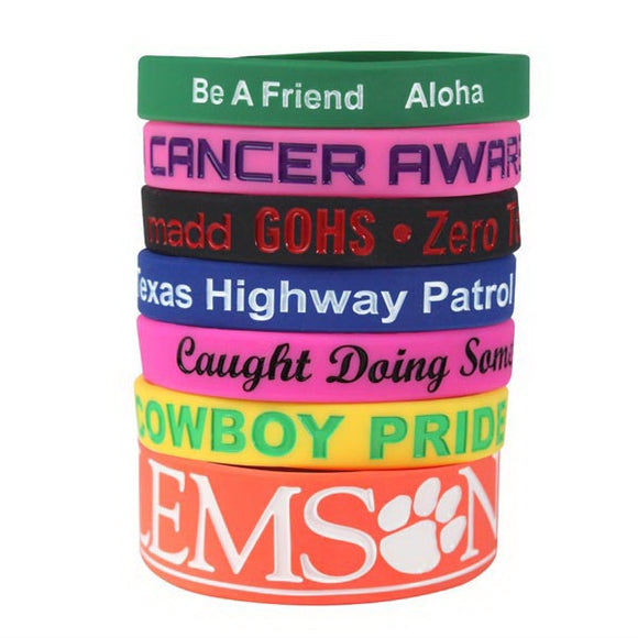 Silicone Wristbands - Debossed with Color Fill - Apartment Promotion