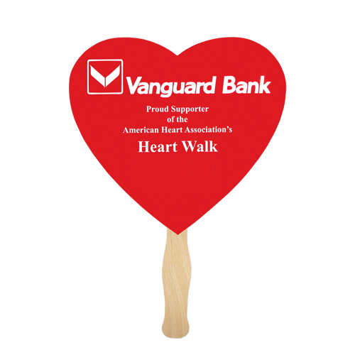 Heart-Shaped Hand Fan - Apartment Promotion