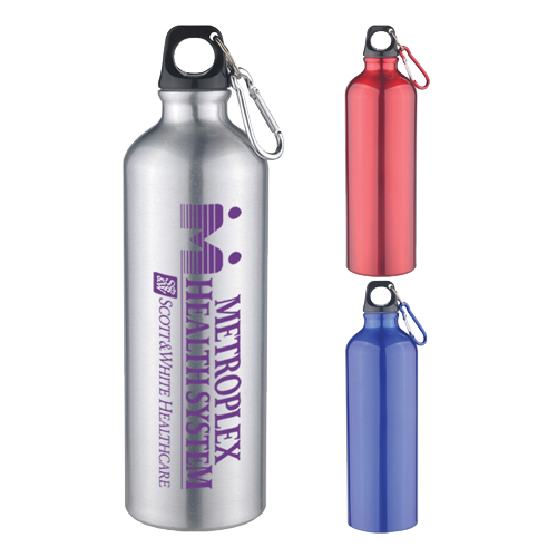 25oz Aluminum Sports Bottle with Twist Off Lid