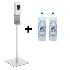 Freestanding Sanitizer Station Bundle