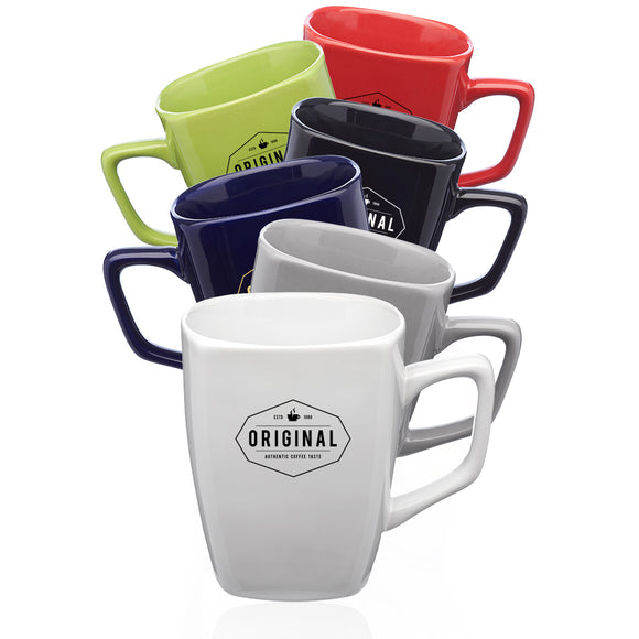 12 oz. Glossy Ceramic Latte Mugs - Apartment Promotion