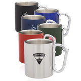 10 oz. Carabiner Handle Stainless Steel Mugs - Apartment Promotion