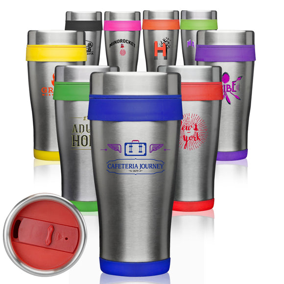 16 oz. Insulated Stainless Steel Travel Mugs