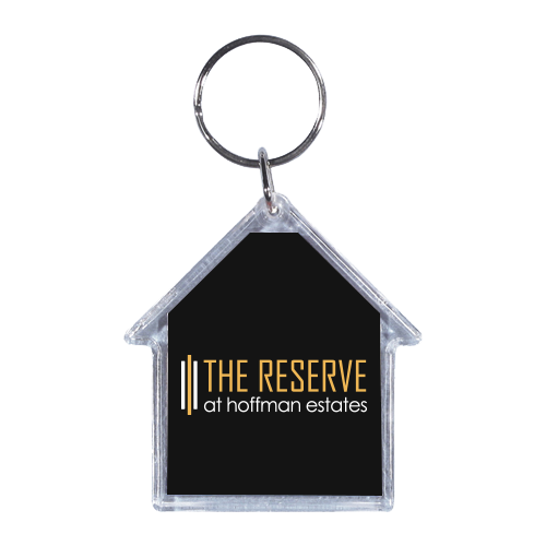 House-Shaped Acrylic Keychain - Apartment Promotion