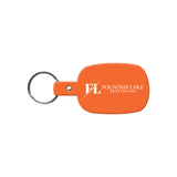 Rounded Rectangle Flexible Key Tag