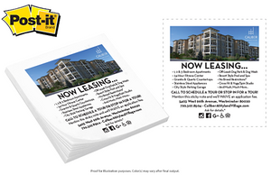 QuickShip - Post-it® Custom Printed Notes Full Color - Apartment Promotion