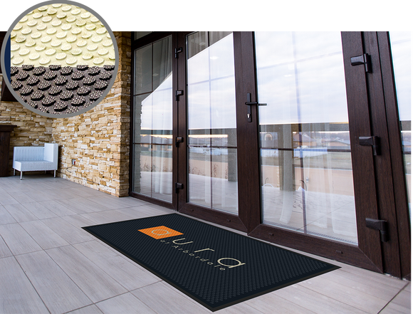 Door Mat - Rubber Scrape Print HD - Apartment Promotion
