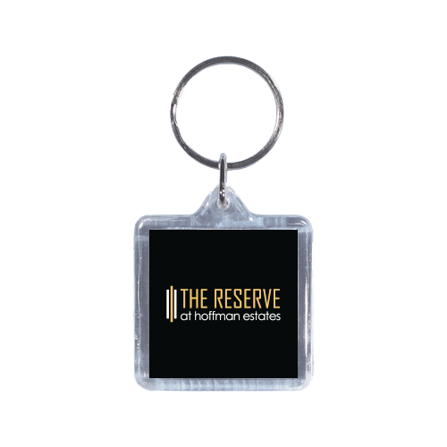 Full Color Square Acrylic Keychain