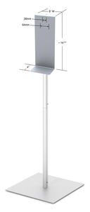 "48"" Fixed Upright Hand Sanitizer Stand with Square Base"