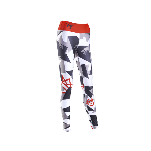 WOMEN'S LEGGINGS GEOMETRIC GRAY