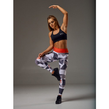 Load image into Gallery viewer, WOMEN'S LEGGINGS GEOMETRIC GRAY