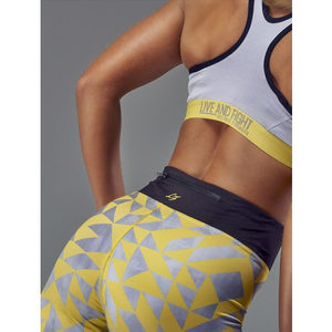 WOMEN'S LEGGINGS TEMPO GRAY YELLOW