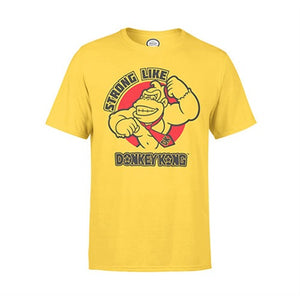 NINTENDO T-SHIRT - STRONG DONKEY  yellow