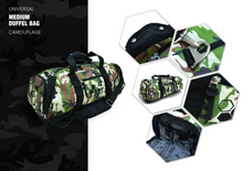 Load image into Gallery viewer, UNIVERSAL MEDIUM DUFFEL BAG CAMOUFLAGE