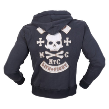 Load image into Gallery viewer, CHOPPER SKULL HOODIE NAVY
