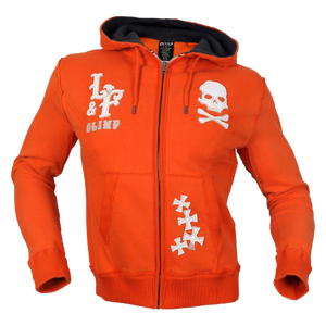 CHOPPER SKULL HOODIE ORANGE