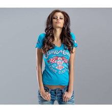 Load image into Gallery viewer, LOST REBELS LADY'S TEE BLUE