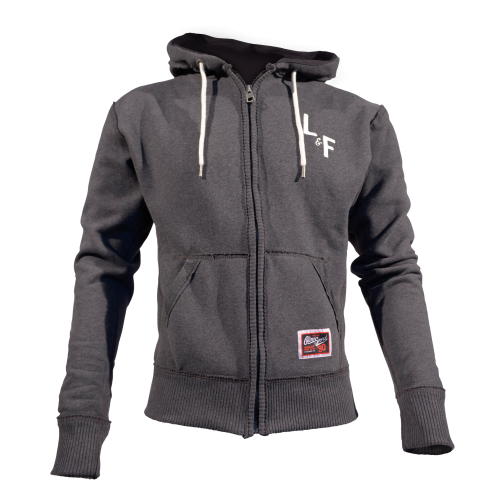 MEN'S HOODIE STACKED CHARCOAL