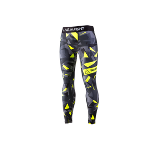 MEN'S LEGGINGS ATHLETIC CAMO LIME