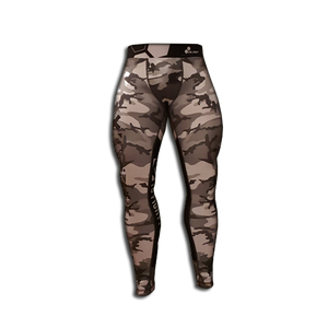 MEN'S LEGGINGS WORKOUT CAMO GRAY BLACK