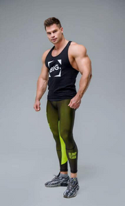 MEN'S LEGGINGS WORKOUT CLASSIC BLACK NEON