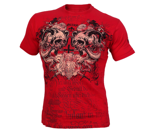 SCREAMING SKULLS RED