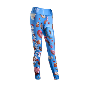 WOMEN'S LEGGINGS COOKIES BLUE
